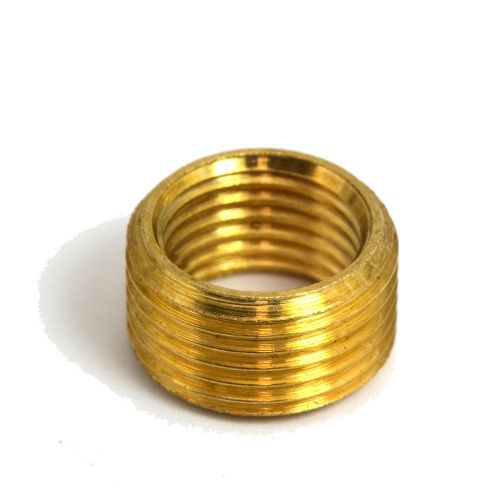 Solid Brass 1/2'' x 26 tpi to M10 x 1mm Pitch Headless Reducer Packs 3